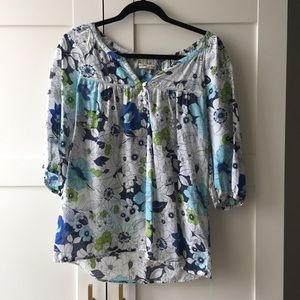 Cotton Blouse in Liberty Style Print
